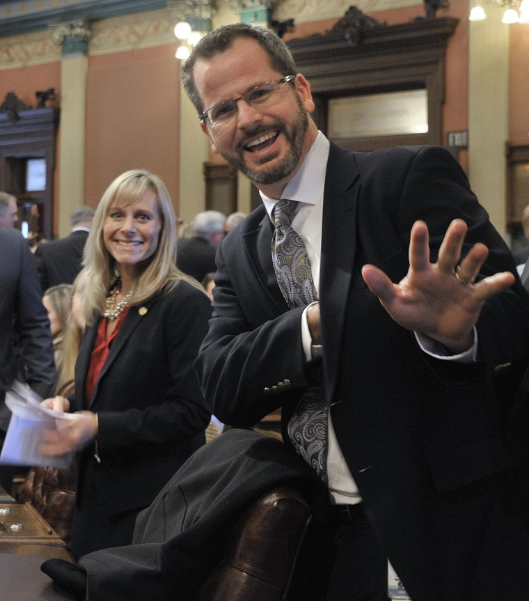 Image:Cindy Gamrat and Todd Courser in January