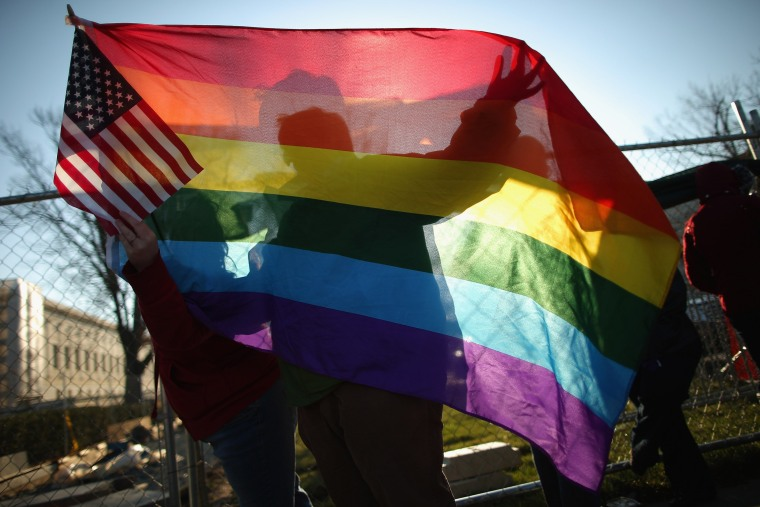 Image: Supreme Court Hears Arguments On California's Prop 8 And Defense Of Marriage Act