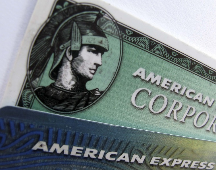 Image: American Express and American Express corporate cards are pictured in Encinitas