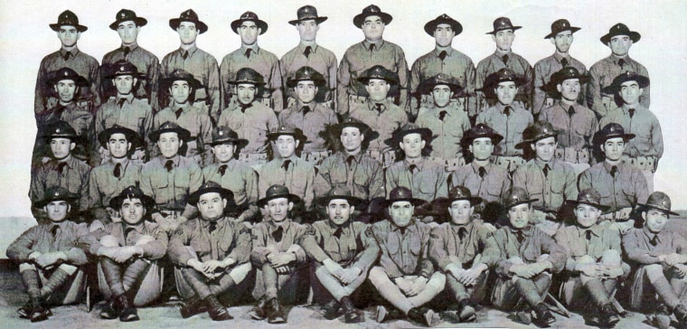 The soldiers of Company E, the Army's only all-Mexican American unit to serve in World War II and now the subject of a new book by Arnulfo Hernandez Jr. and Samuel S. Ortega.