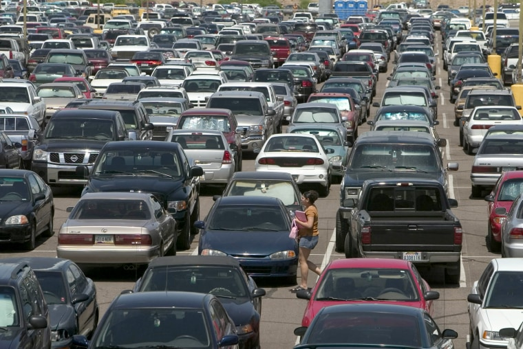 Image: ASU parking lot