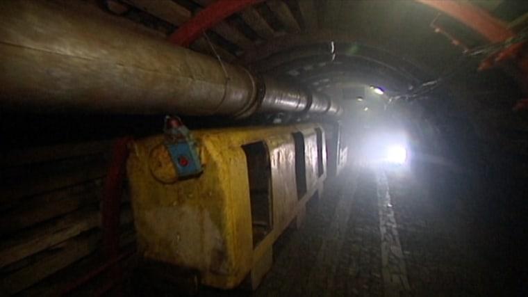 Image: Alleged Nazi train in underground tunnel