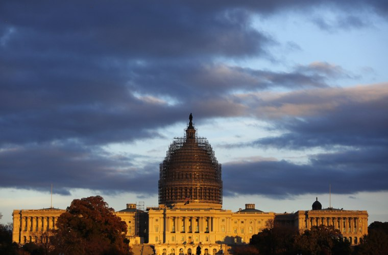 Image: US Capitol is seen at sunset in Washington