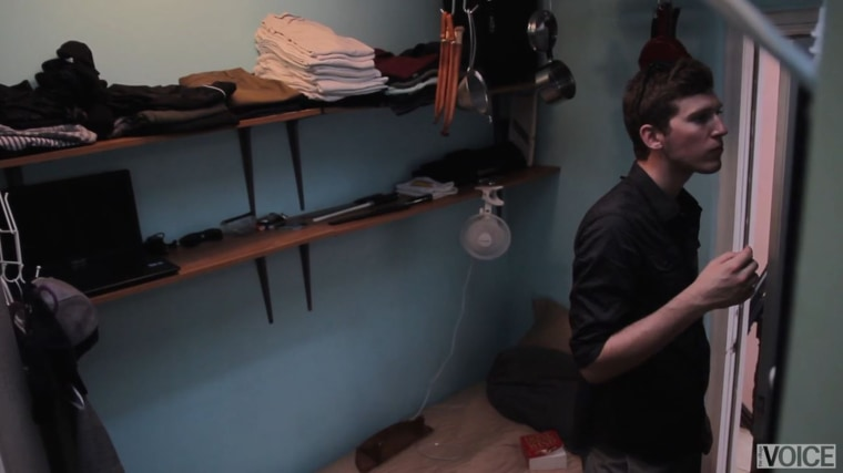This guy that lives in a 100 square foot NYC apartment for $1,100 a month