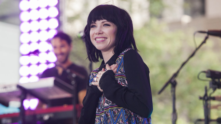 Carly Rae Jepsen performs live on the TODAY Show plaza for the summer concert series.