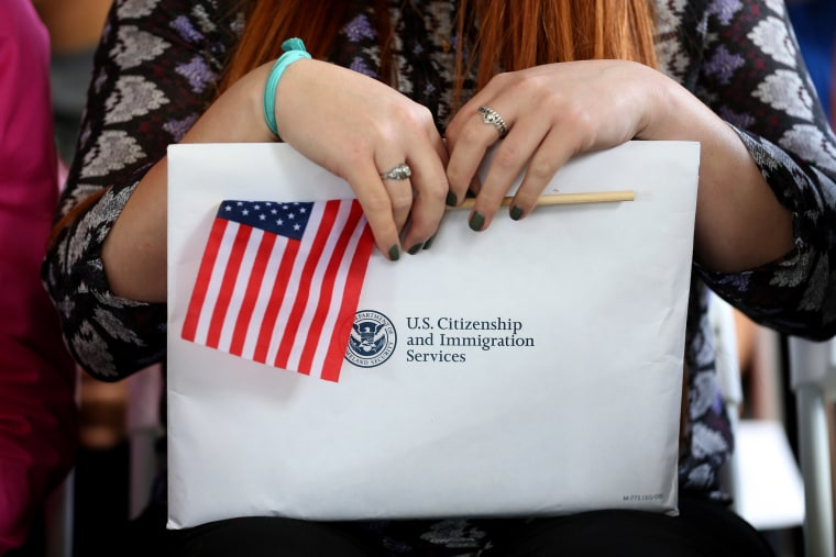 Image: Immigrant Children Sworn In At Florida Naturalization Ceremony