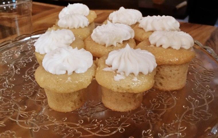 Image: Vegan vanilla cupcakes at VSpot Organic.