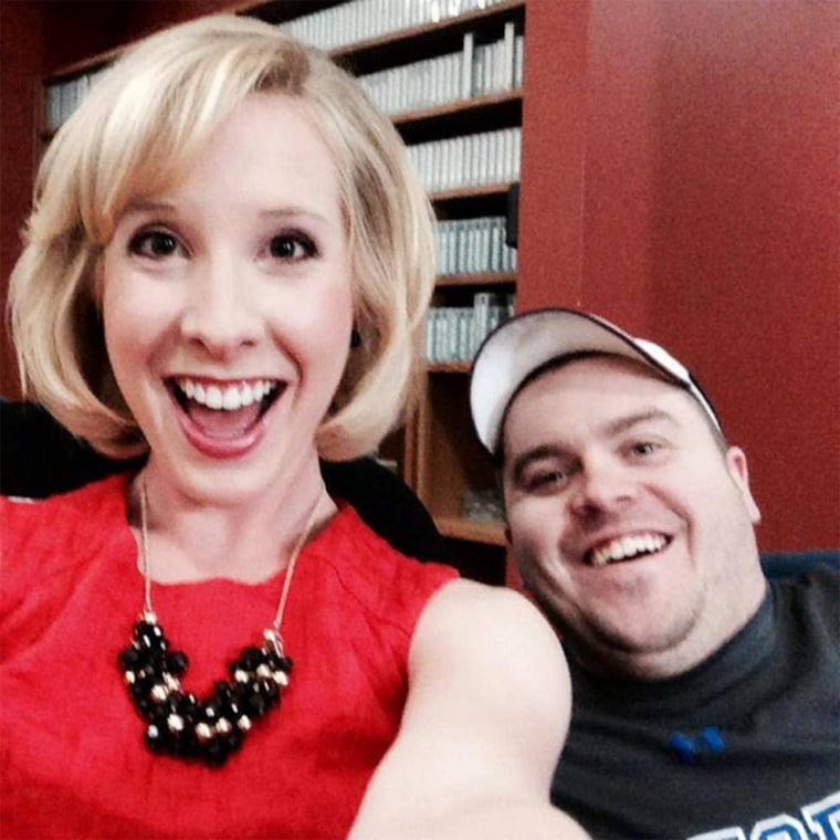 This photo taken from her Facebook page shows WDBJ7 correspondent Alison Parker and cameraman Adam Ward.