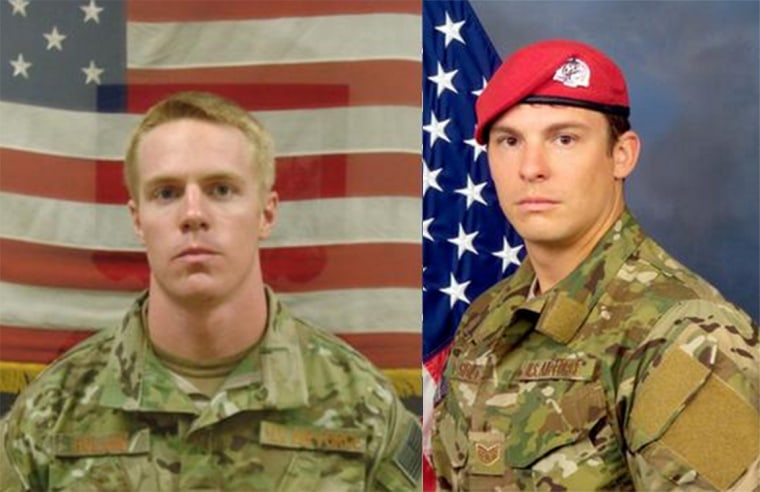 Capt. Matthew D. Roland, 27, of Lexington, Kentucky, and Staff Sgt. Forrest B. Sibley, 31, of Pensacola, Florida, died after gunmen wearing Afghan security forces uniforms opened fire on their vehicle while it was stopped at a checkpoint near Camp Antonik, the Air Force said.