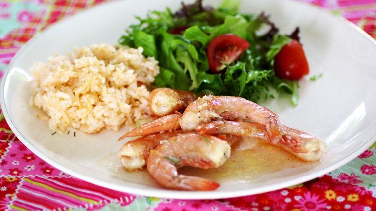 Shell-on shrimp