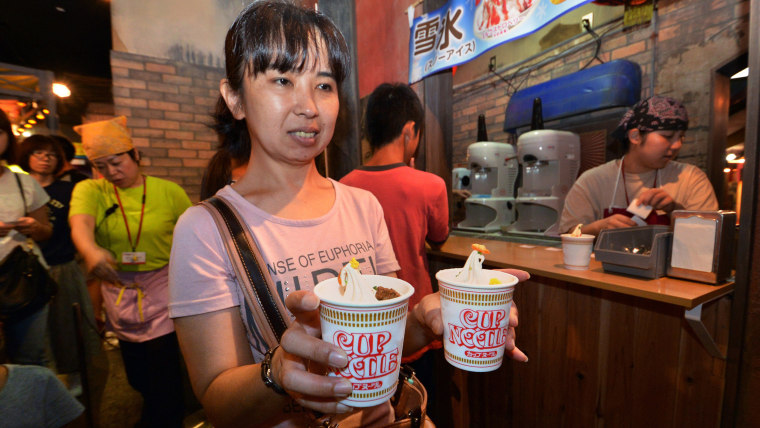 Nissin Cup Noodles introduced ramen-flavored ice cream