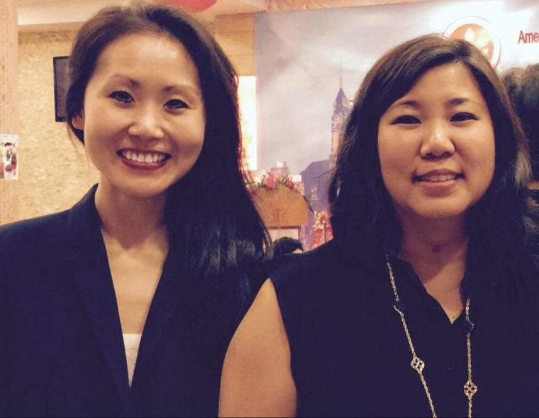 Lindy Li, left, with U.S. Rep. Grace Meng (D-NY).