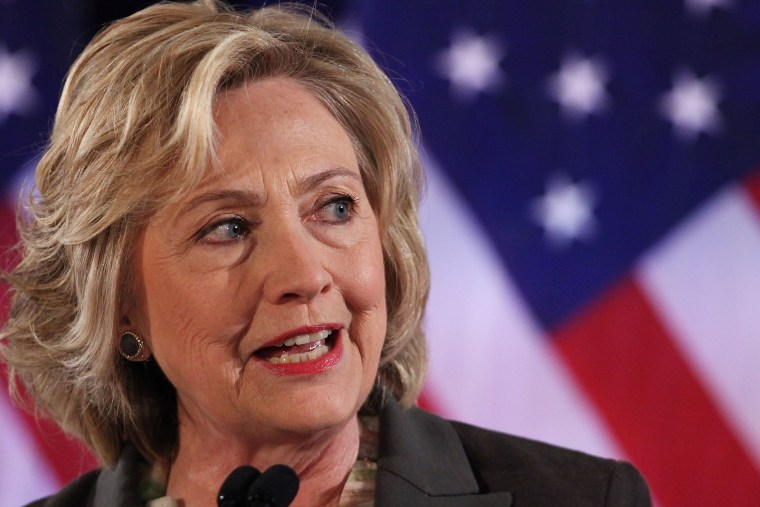 Image: Presidential Candidate Hillary Clinton Gives Economic Address In New York