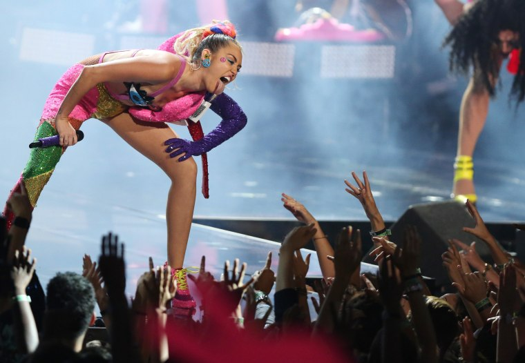 Image: Miley Cyrus performs at the MTV Video Music Awards