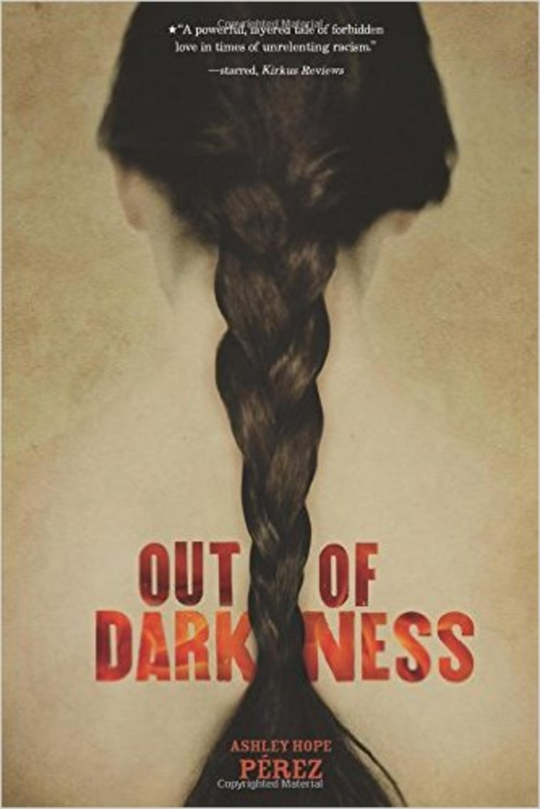 """Book jacket cover, """"Out of Darkness."""" by Ashley Hope Perez, available Sept 1., published by Carolrhoda Lab."""