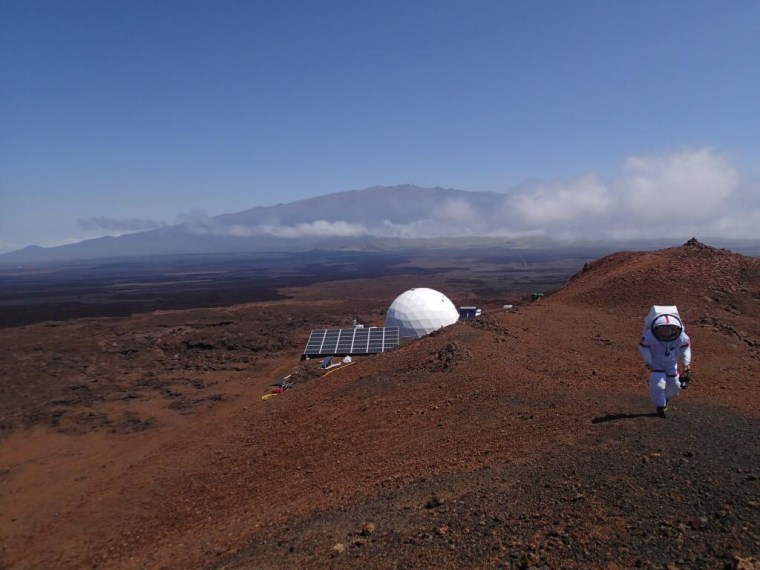 A view of the HI-SEAS habitat on the island of Hawai'i, where six crew members will spend a year in isolation.