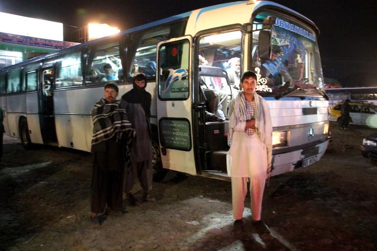 Image: Kabul bus station.