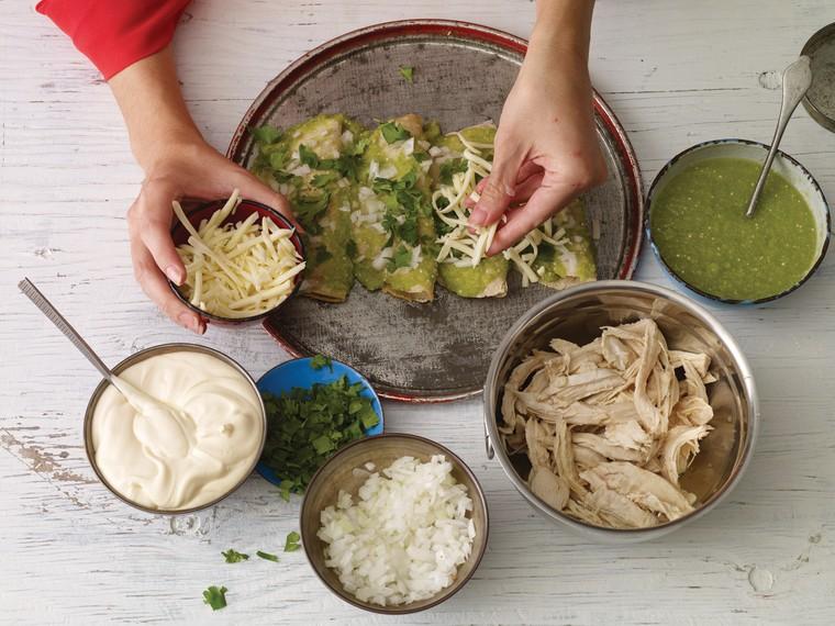 """A picture of """"enchiladas verdes."""""""