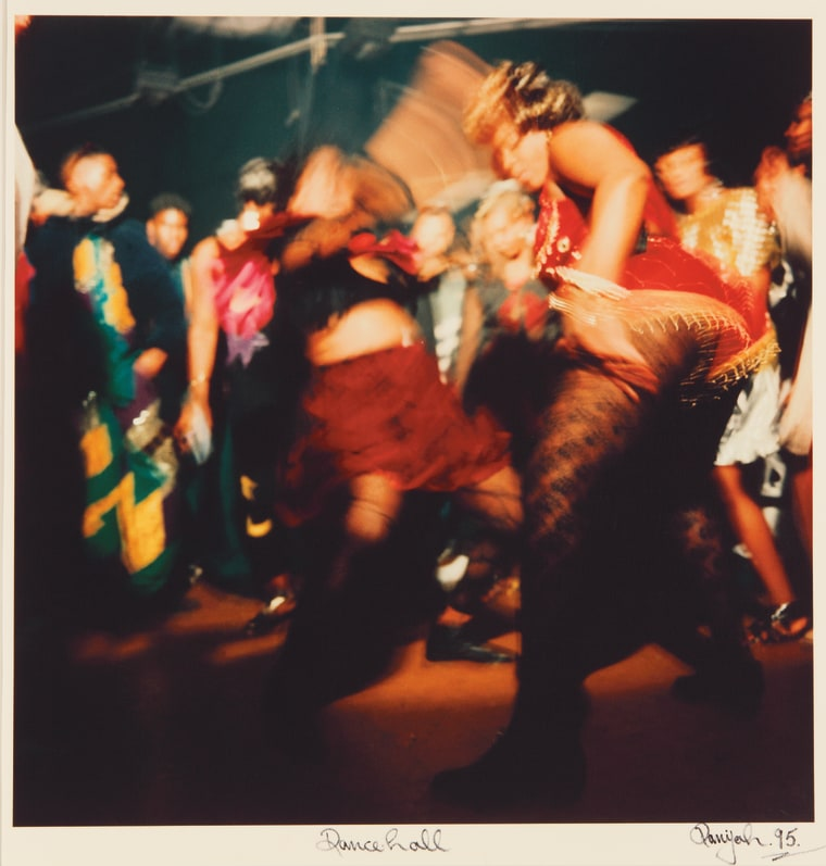 """This piece talks about global connections and tensions. Tafari shows us how dance hall from the Caribbean emerged as a music form in popular culture. The energy and movement captured in this photograph is wonderful."" -- Kara Tucina Olidge"