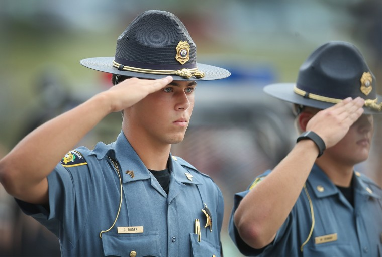 Image: Vigil Held For Fallen Police Officer In Illinois Shooting