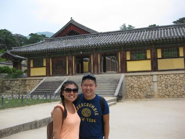 Whitney and Lee Fritz on a trip to South Korea to visit Lee's in-laws in June 2014.