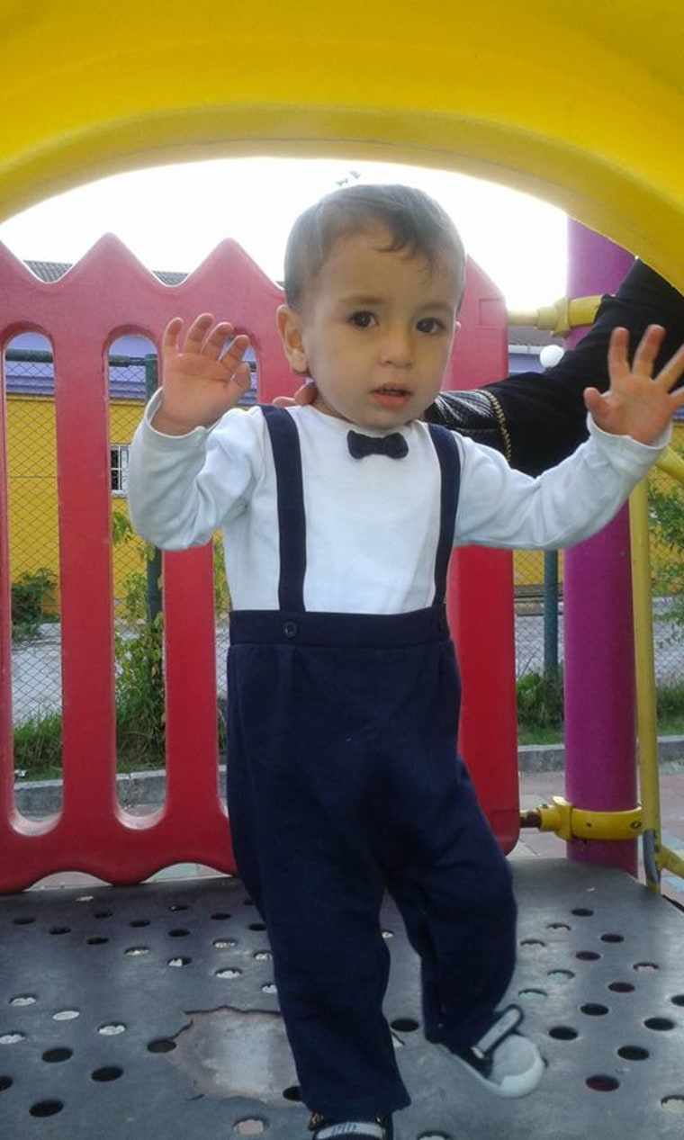 This undated photo taken from the Facebook page of Abdullah Kurdi shows his son Aylan Kurdi.