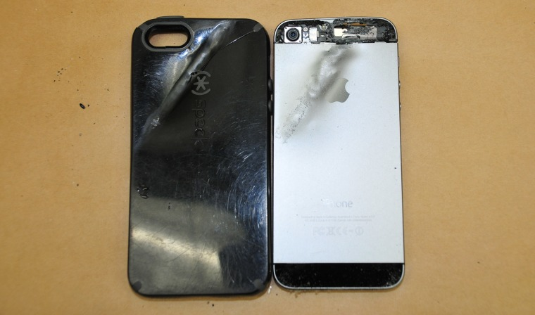 Image: A Fresno State University student's iPhone stopped a bullet during an attempted robbery.