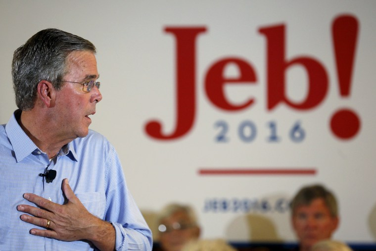 Image: Jeb Bush in Laconia, New Hampshire