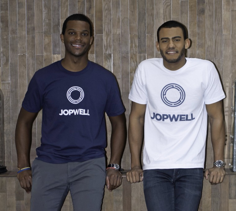 Porter Braswell, left, and Ryan Williams, co-founders of Jopwell.