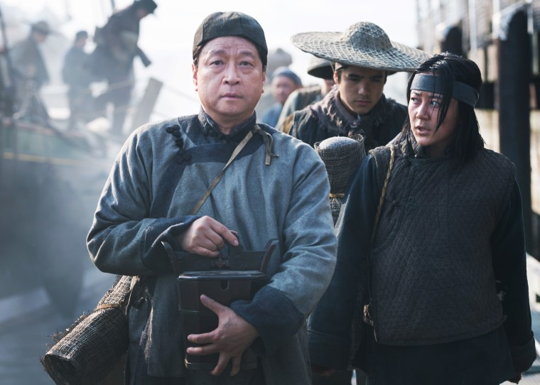 Tzi Ma's character Tao, a Chinese laborer with dreams of democracy for his native country, is one of thousands of Chinese laborers who worked for the Central Pacific Railroad.