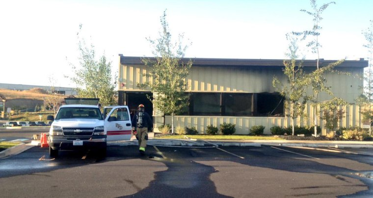 Image: Officials determined arson caused a fire at a Planned Parenthood facility in Pullman, Wash.