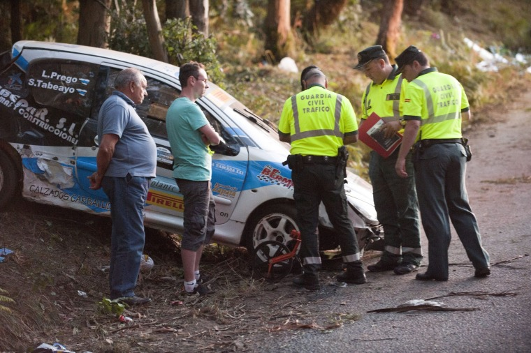 Image: Six people die during a rally in A Coruna