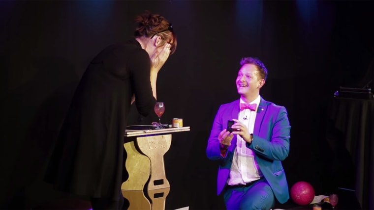 Magician proposes on stage