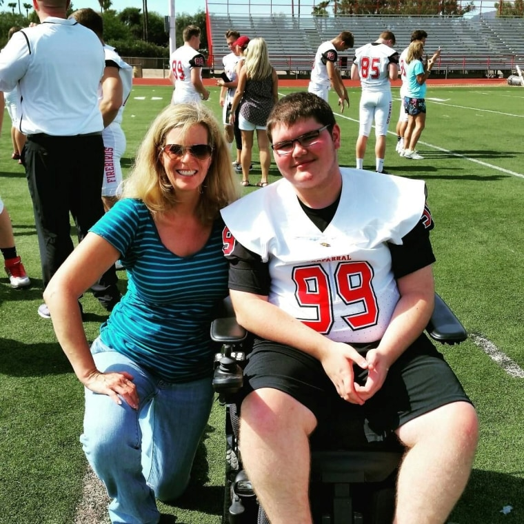 Lisa Groeger and her son, Kevin Groeger.