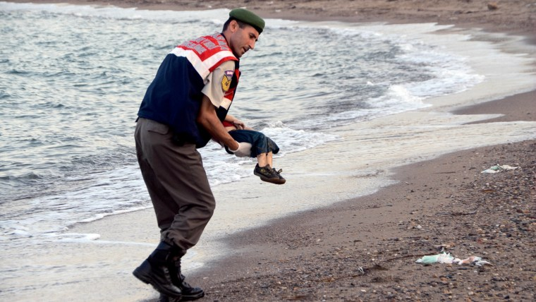 Drowned Syrian toddler refugee in Turkey