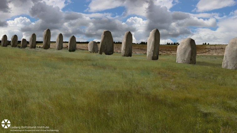 Image: Scientist have discovered what they say are at least 90 enormous stone monoliths