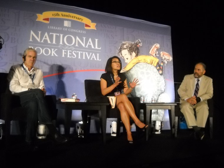 NPR Correspondent Tom Gjelten, Historian Erica Lee, Al Jazeera anchor Ray Suárez  at 15th Annual National Book Festival, Walter       E. Washington Convention Center, Washington, D.C.  September 5, 2015
