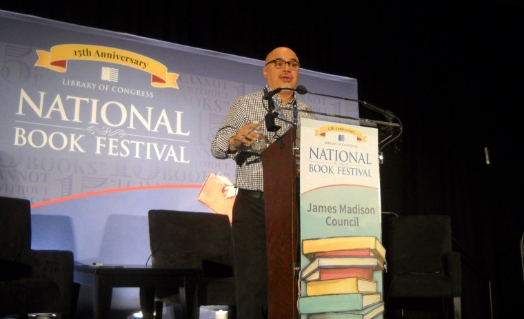 "University of Oregon journalism professor and former LA Times reporter Héctor Tobar talking about his book ""Deep Down Dark: The Untold Stories of 33 Men Buried in a Chilean Mine, and the Miracle That Set Them Free""  at the 15th Annual National Book Festival, September 8, 2015."