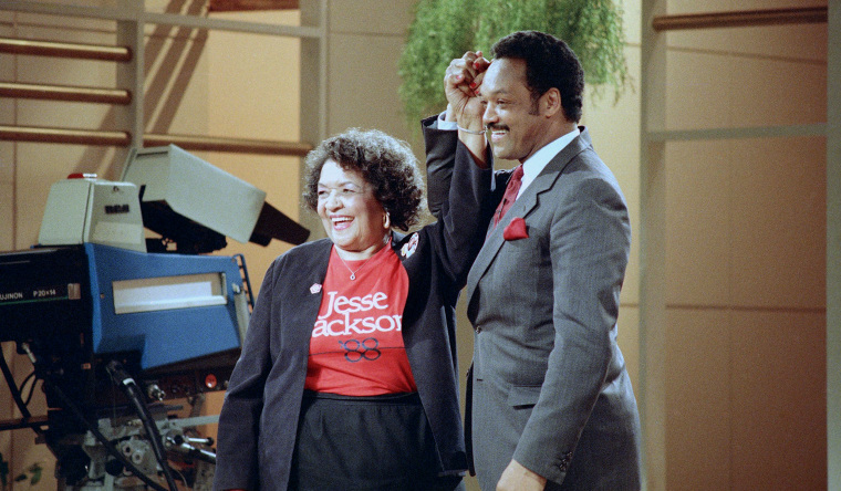 Image: Hellen Jackson and her son Jesse Jackson