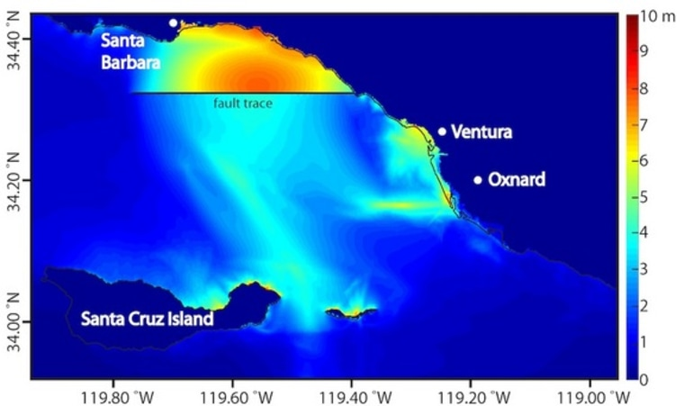 Image: Map of regional peak tsunami amplitude