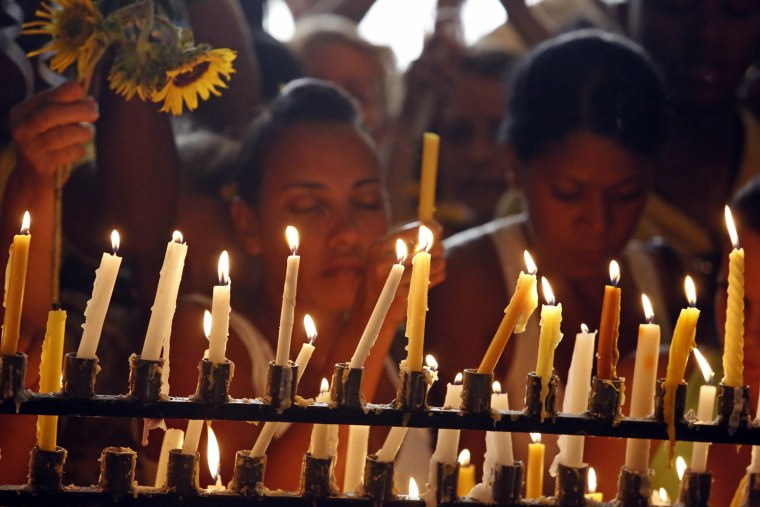 """Cubans celebrate their Patron Saint Day """"Virgen de la Caridad del Cobre"""" (Our Lady of Charity) ahead of Pope Francis' visit to the island."""