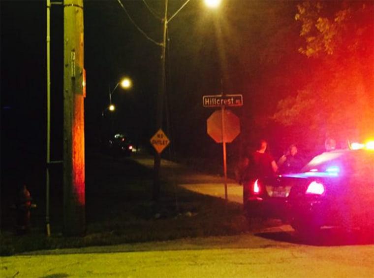 Image: Police at crime scene