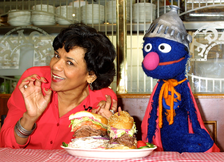 Image: Actress Sonia Manzano and Grover