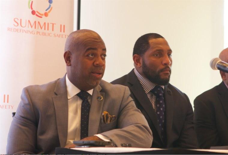 Ray Lewis speaks at summit.