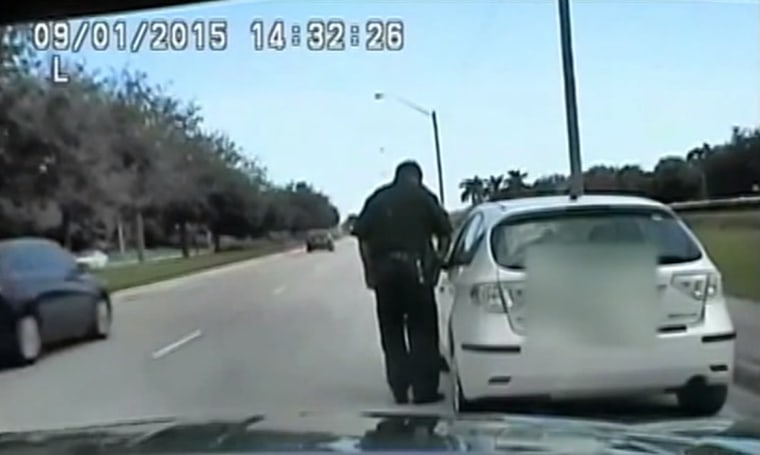 IMAGE: Driver insults Florida sheriff's deputy
