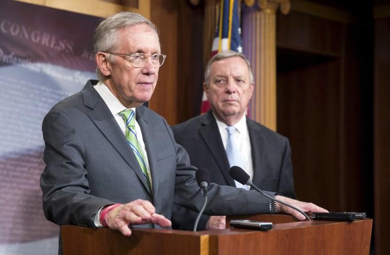 Image: Senate Minority Leader Harry Reid and Senator Dick Durbin