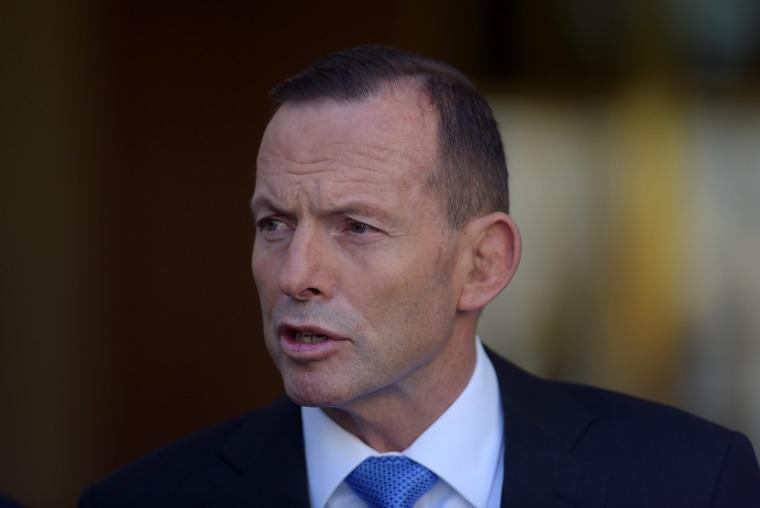 Image: Australian prime minister Tony Abbott