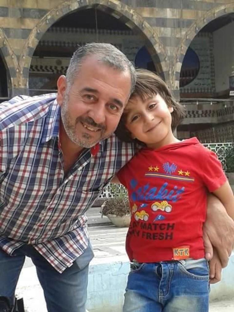 Osama Abdul Mohsen and his son Zaid.