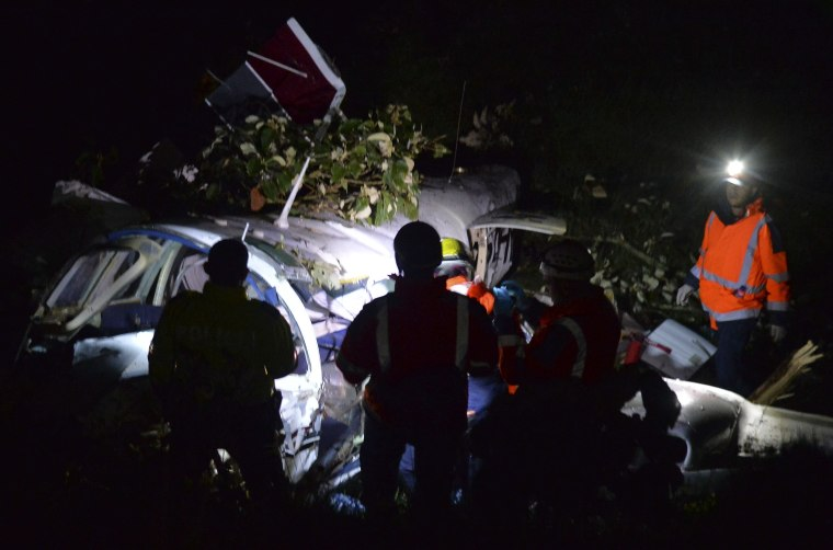 Image: COLOMBIA-PLANE-ACCIDENT