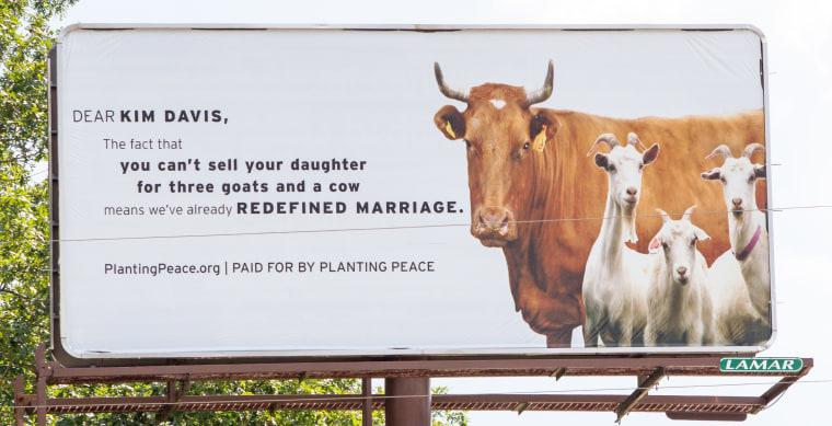 Kim Davis billboard